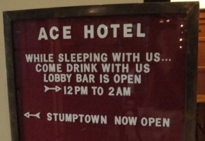 Ace Stumptown Sign