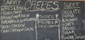 suzette crepes sign
