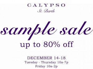 calypso sample sale