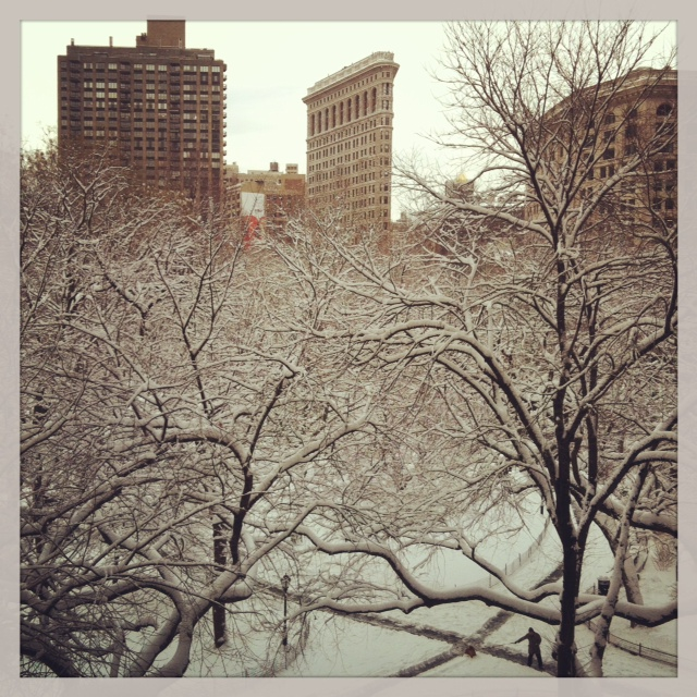 madison square park blizzard feb 2013 BS
