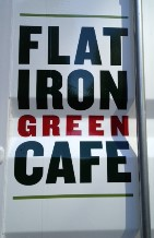 flatiron green cafe sign
