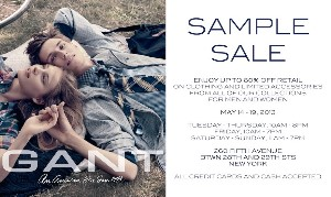 gant sample sale 2013